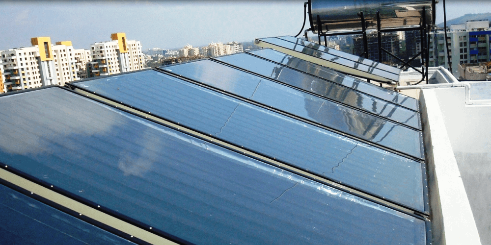 Quick and accurate Flat Plate Collector (FPC) Solar Water Heating System Installed By Suryatech Solar Systems Pune