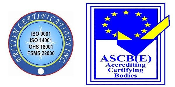 British Certifications inc and ASCB(E) accrediting bodies has certified Suryatech Solar Systems, Pune with ISO 9001:2008 certification